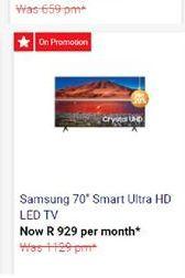 "Samsung 70"" Smart UHD TV offers at"