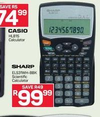 Sharp Calculator offer at R 99,99