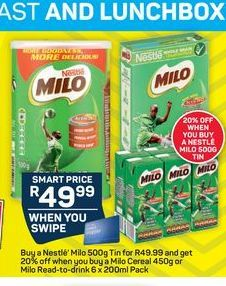 Milo Cereals  offer at R 49,99