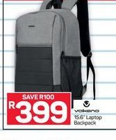 Volkano Backpack offer at R 399