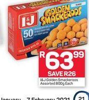 I&J Golden Smackeroos offer at R 63,99
