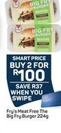 Fry's Meat Free The Fry Burger 2 offer at R 100