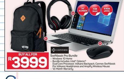 Connex Swiftbook Pro Bundle offer at R 3999