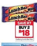 Cadbury Lunch Bar Chocolate Bars 2 offer at R 18