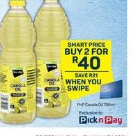 Pick n Pay Canola Oil 2 offer at R 40