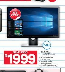 "Dell LED monitor 23""  offer at R 1999"
