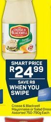 Crosse & Blackwell Mayonnaise  offer at R 24,99