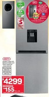 Defy Fridge With Freezer offer at R 4299