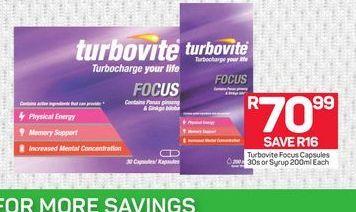 Turbovite offer at R 70,99
