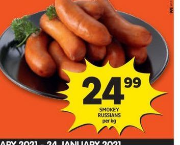 Smokey Russians offers at R 24,99