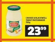 Crosse & Blackwell Mayonnaise  offer at R 23,99