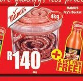 Mama's Fry's Bucket offer at R 140