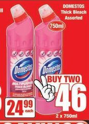 Domestos Thick Bleach offer at R 24,99