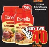 Excella Rich & Creamy Mayonnaise 2 offer at R 40