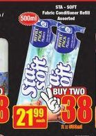 Sta-Soft Fabric Conditioner Refill offer at R 21,99