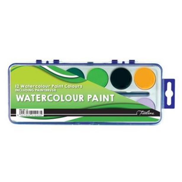 WATERCOLOUR PAINTS ASSORTED 12's offer at R 19,9