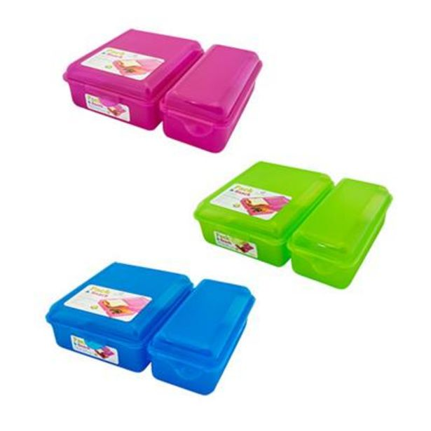PACK & SNACK 1100ml LUNCH BOX offer at R 49,9
