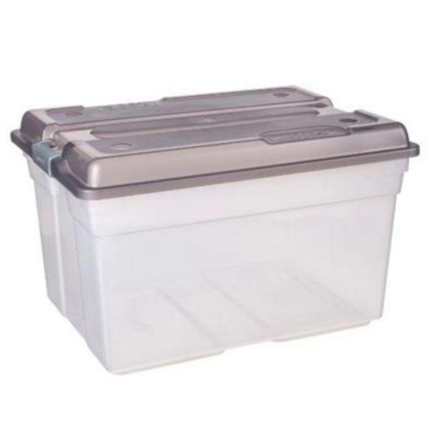 CLEAR STORAGE BOX 56lt STEEL offers at R 169,9
