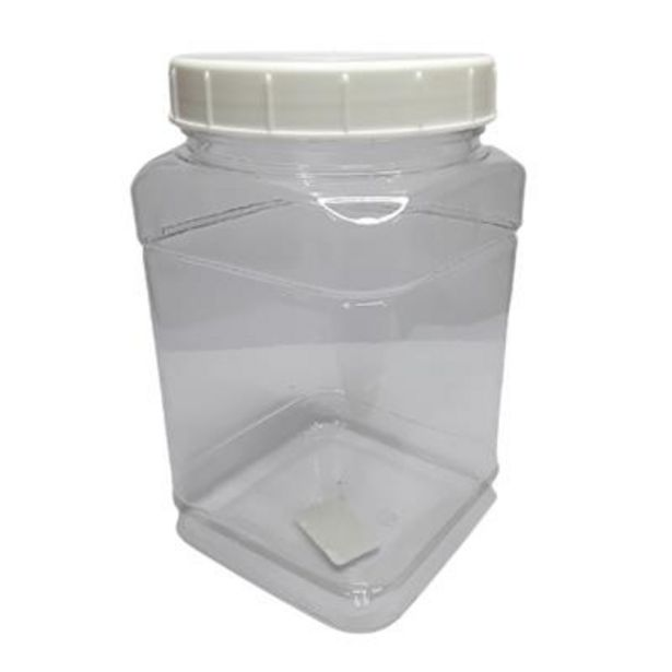 JAR SQUARE 2kg CLEAR & LID NEW offers at R 19,9