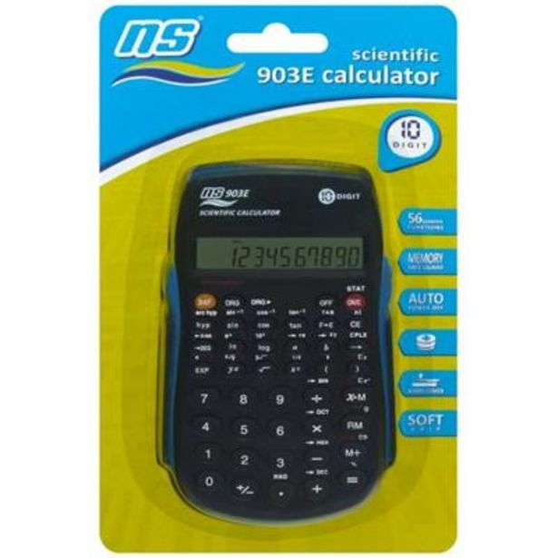 NS-903E CALCULATOR - SCIENTIFIC 10 DIG offers at R 84,9