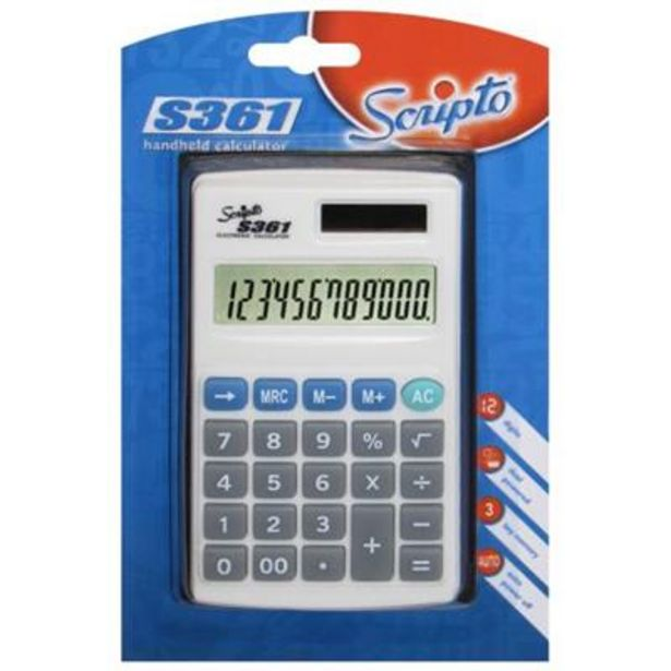 S361 CALCULATOR 12 DIGIT offer at R 46,9