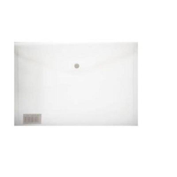 A4 CARRY FOLDER WITH STUD 180 MICRON CLEAR offer at R 3,9