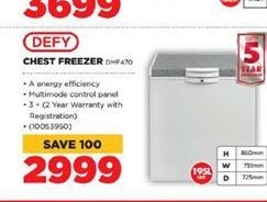 Defy Freezer  offer at R 2999