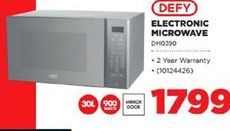 Defy Electronic Microwave offers at R 1799