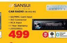 Sansui Car Radio offer at R 499