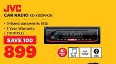 JVC Car Radio offer at R 899