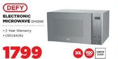Defy Electronic Microwave offer at R 1799