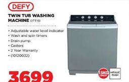 Defy Washing Machine  offer at R 3699