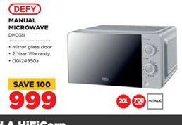Defy Microwave   offers at R 999