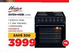 Univa Oven+Hob offer at R 3999
