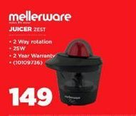 Mellerware Juicer  offer at R 149