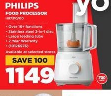 Philips Food Processor  offer at R 1149