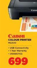 Canon Colour Printer offer at R 699