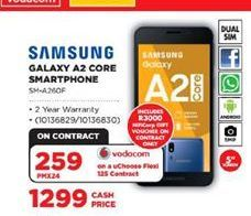 Samsung Galaxy A2 Core Smartphone offers at R 1299