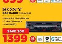 Sony Car Radio offer at R 1399
