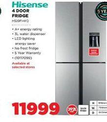 Hisense 4 Door Fridge  offers at R 11999