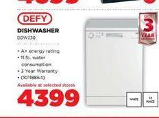 Defy Dishwasher  offer at R 4399