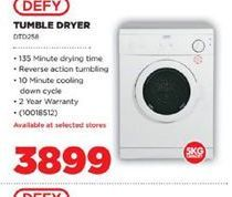 Defy Tumble Dryer offer at R 3899