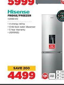 Hisense Fridge / Freezer  offer at R 4499