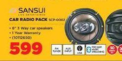 Sansui Car Radio Pack offer at R 599