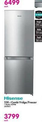Hisense Combi Fridge & Freezer offers at R 3799