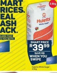Huletts Sugar  offer at R 39,99