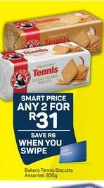 Bakers Tennis Biscuits  offer at R 31