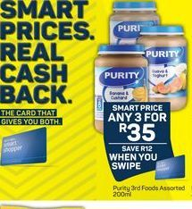 Purity Baby Food 3 offer at R 35