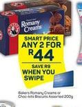 Bakers Romany Creams 2 offer at R 44