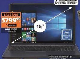 Asus Laptop offer at R 5799,99